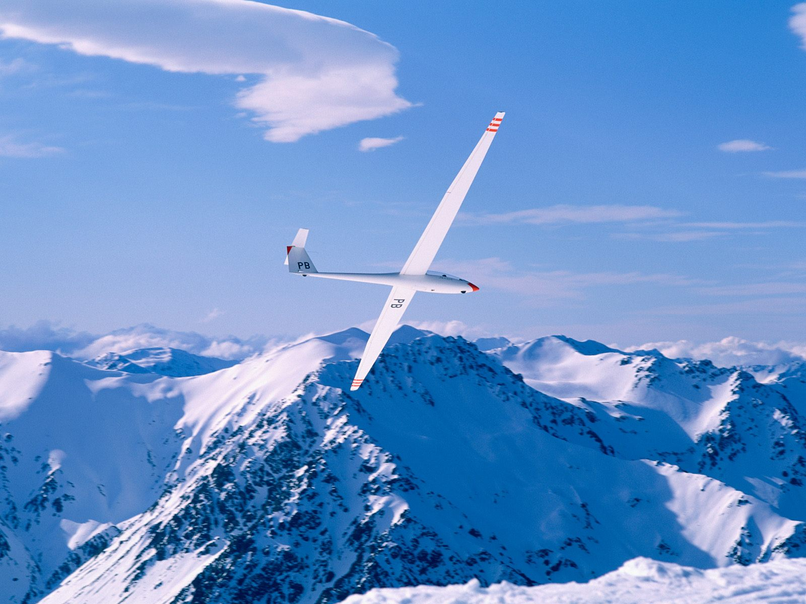 Glider Southern Alps New Zealand