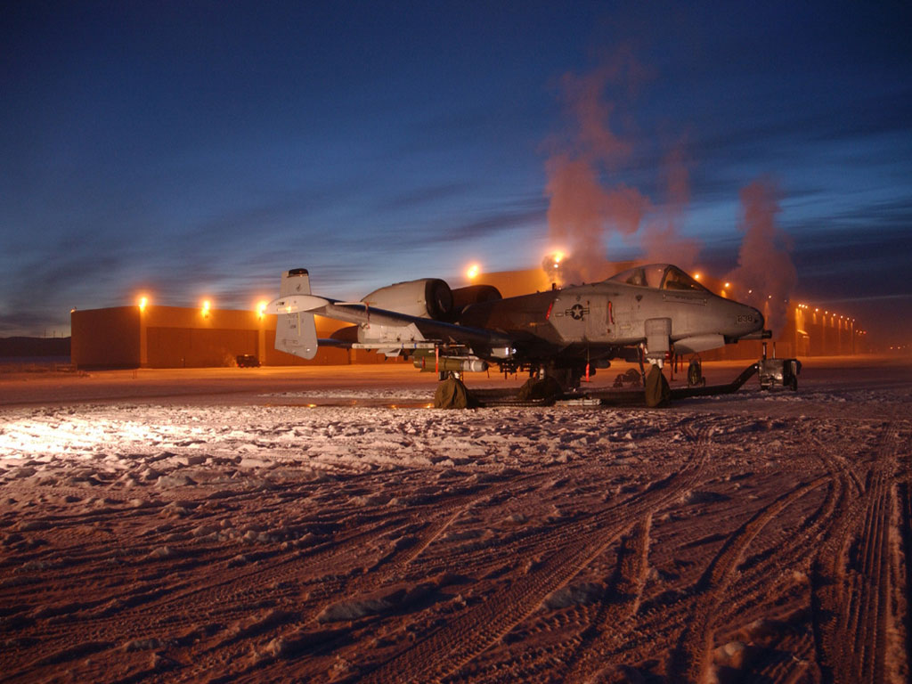 Refueling In The Snow