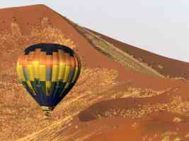 Ballooning over the Namib Desert Namibia Africa