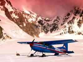 Cessna 185 Ski Plane Mount McKinley Alaska
