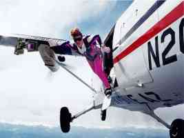 air boarder jumping from plane