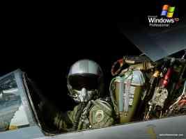 fighter pilot in cockpit