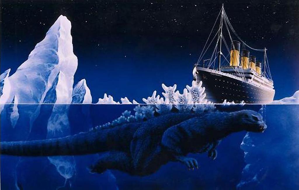 Titanic Meets Godzilla