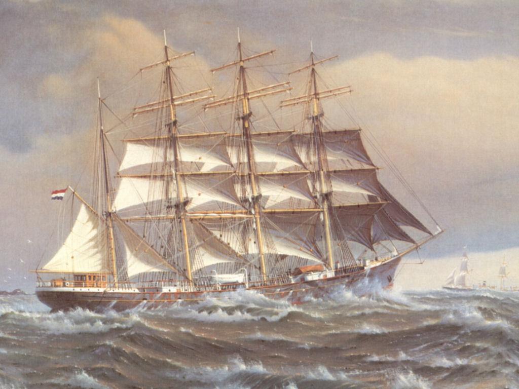 Cornelis De Vries Boat Painting