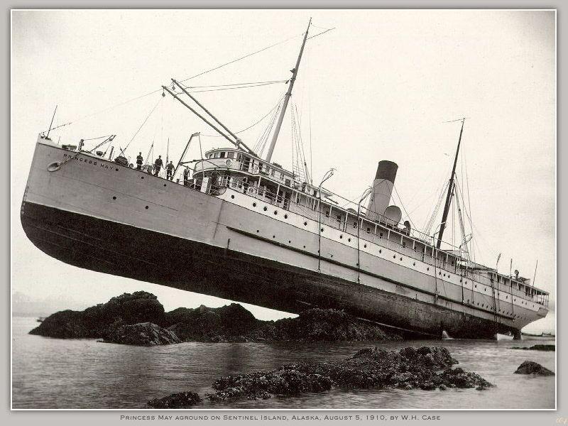 Princess May Run Aground On Sentinel Island Alaska 1910
