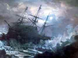 shipwreck on glacier