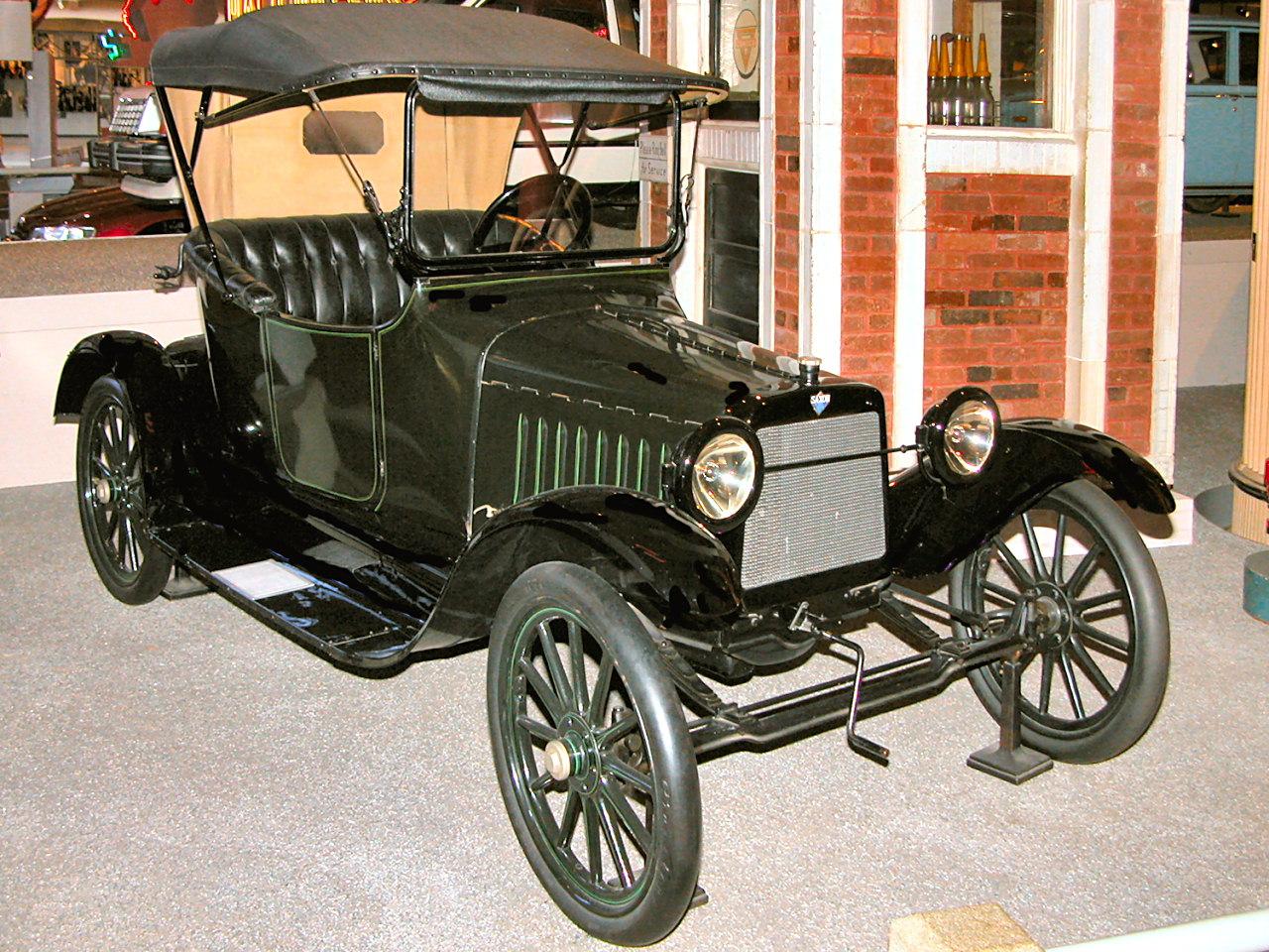 1916 Saxon Roadster Dark Green Black Fvr H Ford Museum N