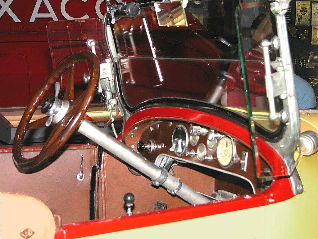 1923 Stutz Bearcat Roadster Yellow Black Instrument Panel H Ford Museum N