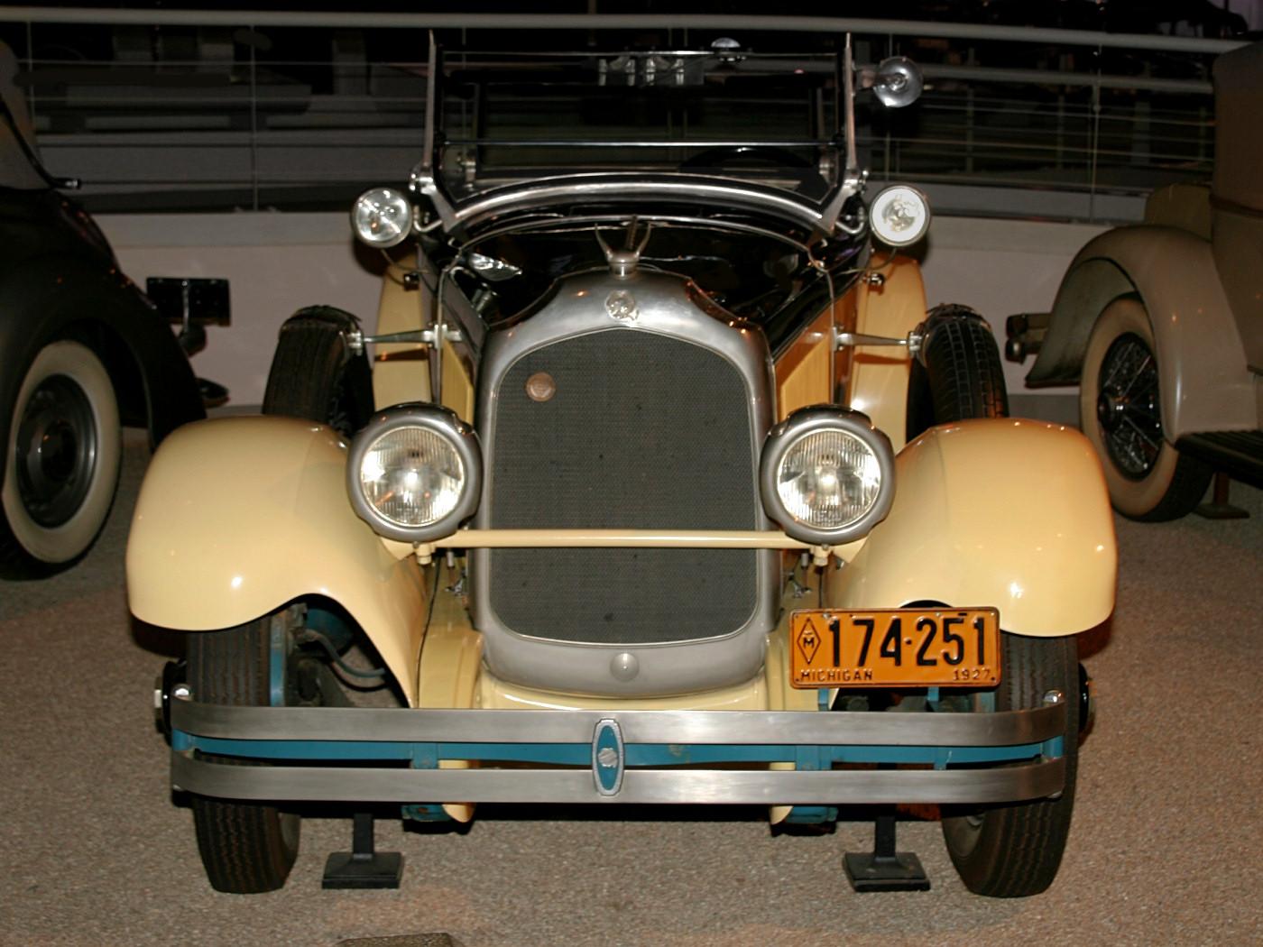 1927 Chrysler Imperial Sportif Dual Cowl Phaeton Yellow Black Fv H Ford Museum CS