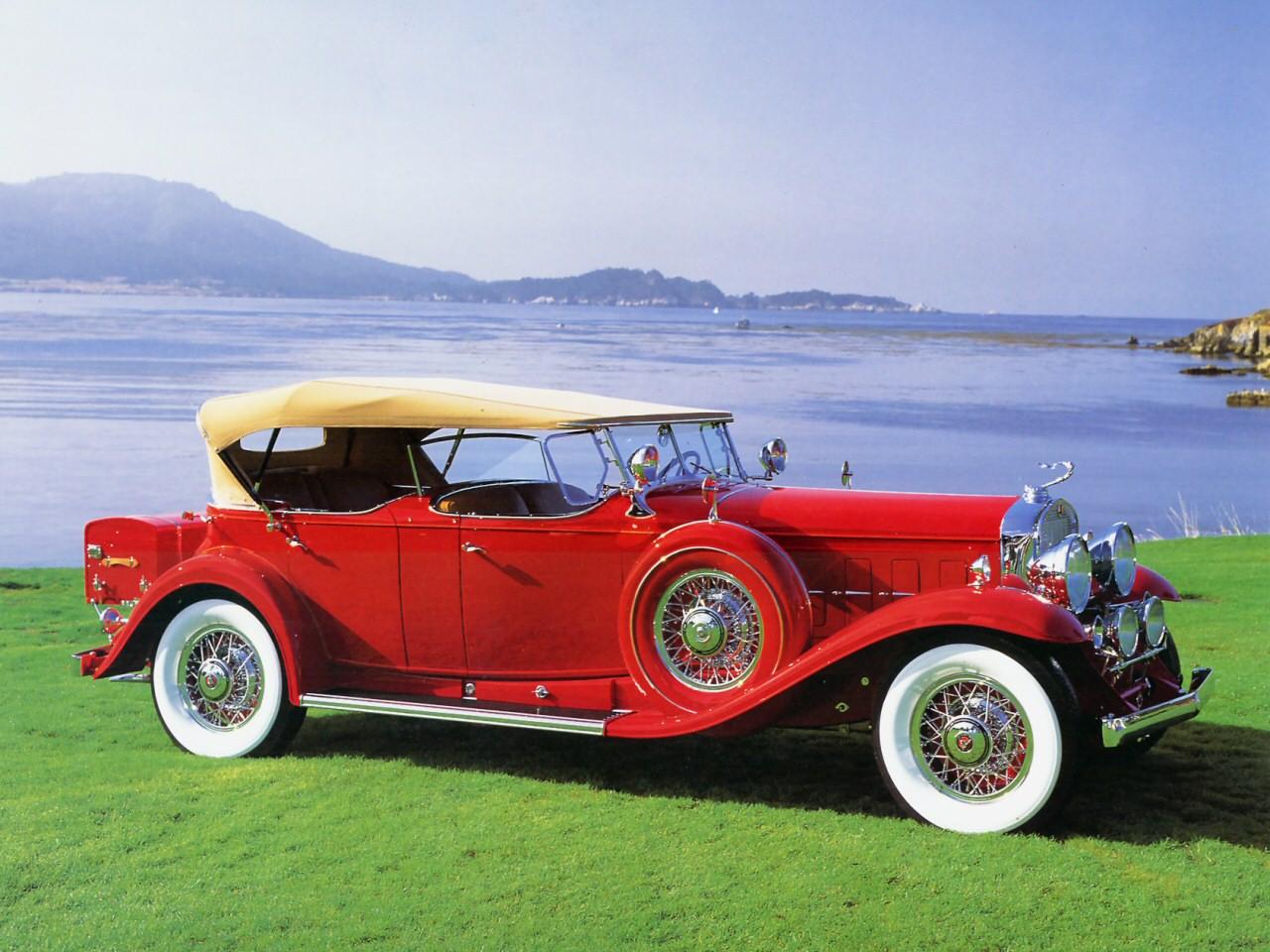 1930 Cadillac V 16 Dual Cowl Sport Phaeton Red Fsvr