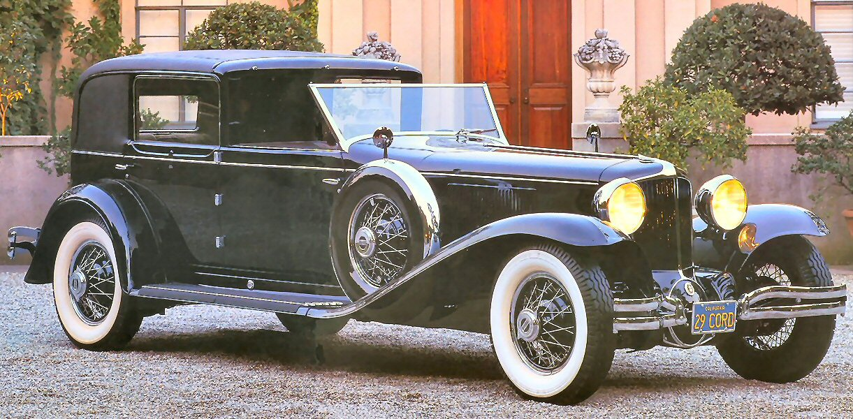1930 Cord L 29 Town Car By Murphy Stitched Black Fvr