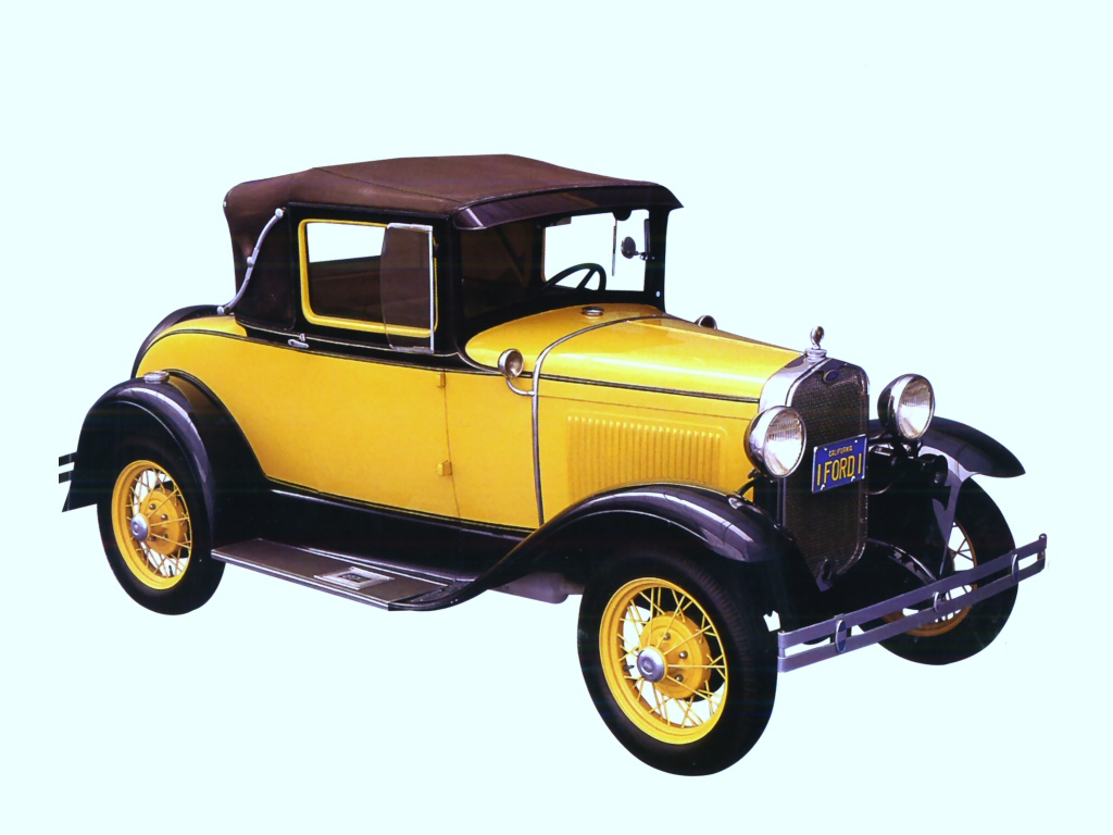 1930 Ford Model A Sport Coupe Yellow Black Fvr