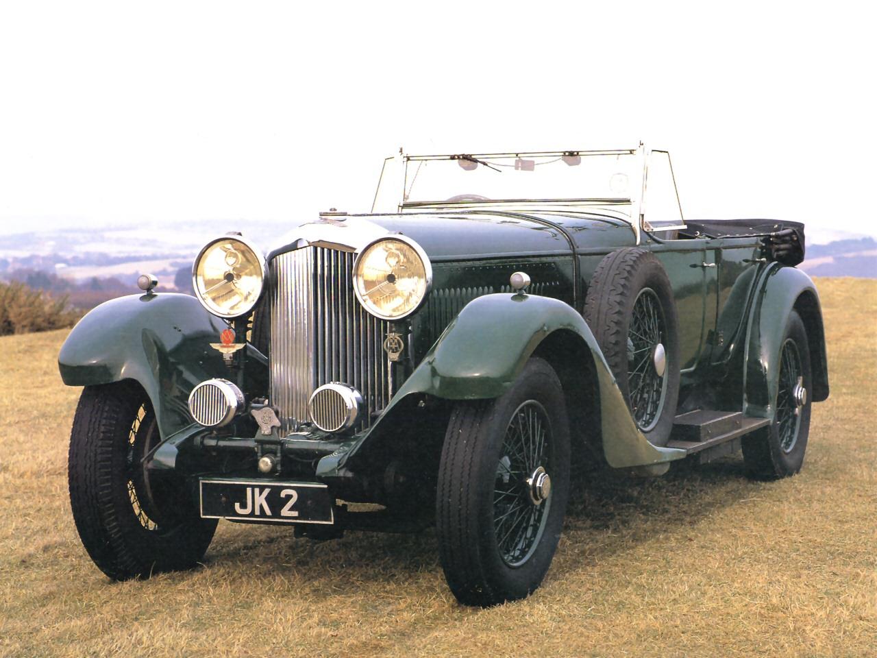 1931 Bentley 8 0L Touring Car Dark Green Fvl