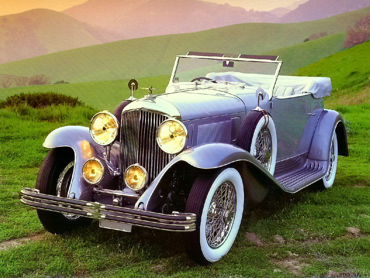 1931 Bentley 8 Litre 2 Door Convertible Blue Grey Fvl