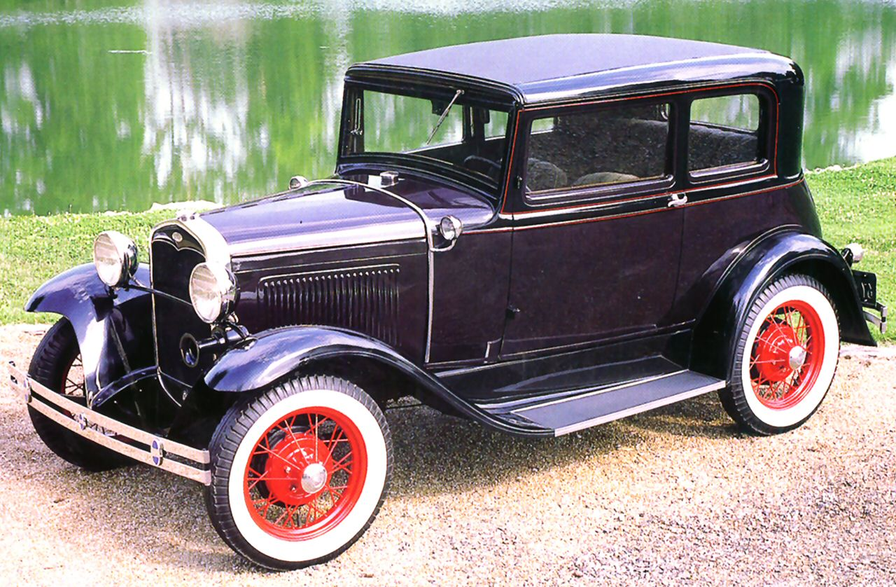 1931 ford model a victoria 2 door sedan dark maroon fvl for 1931 ford model a 2 door sedan