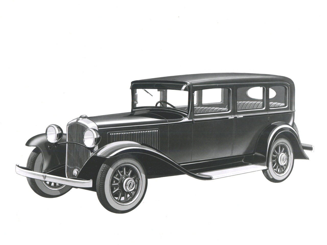 1931 Plymouth 4 Door Sedan Fvl BW