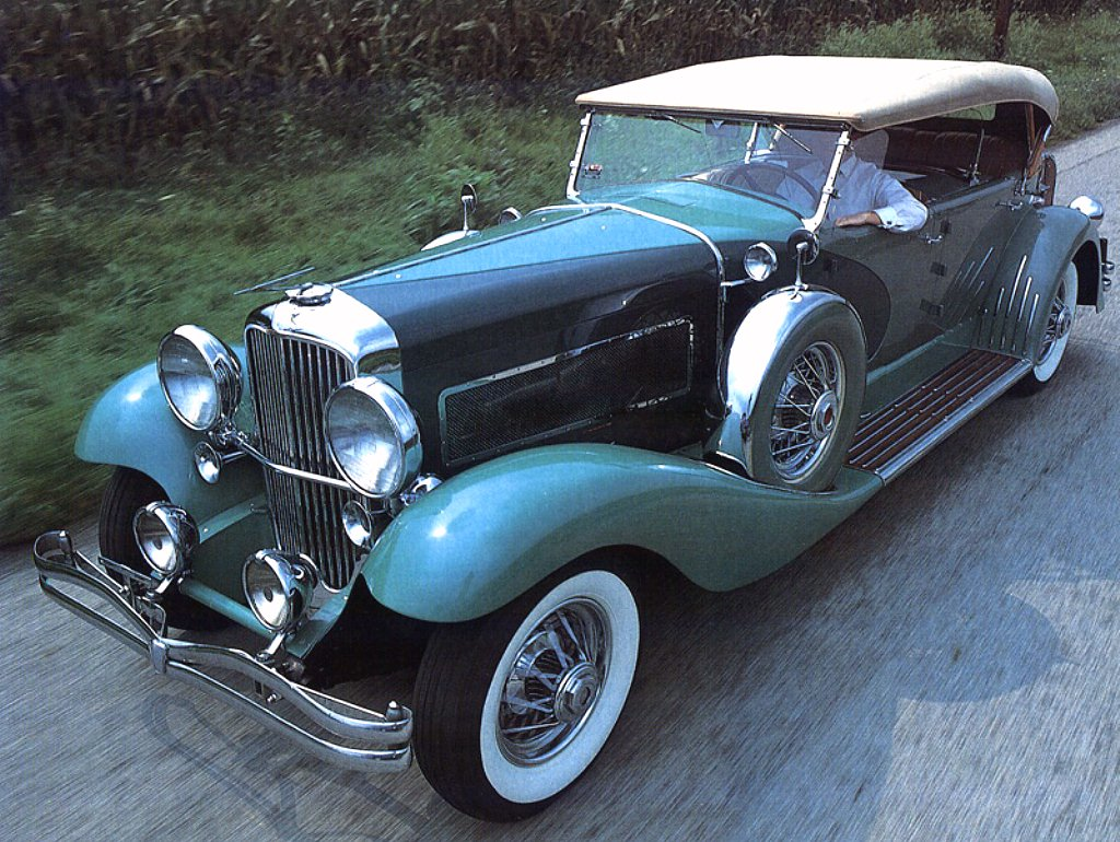 Cars 1932 Duesenberg SJ Touring Car Green Fvl