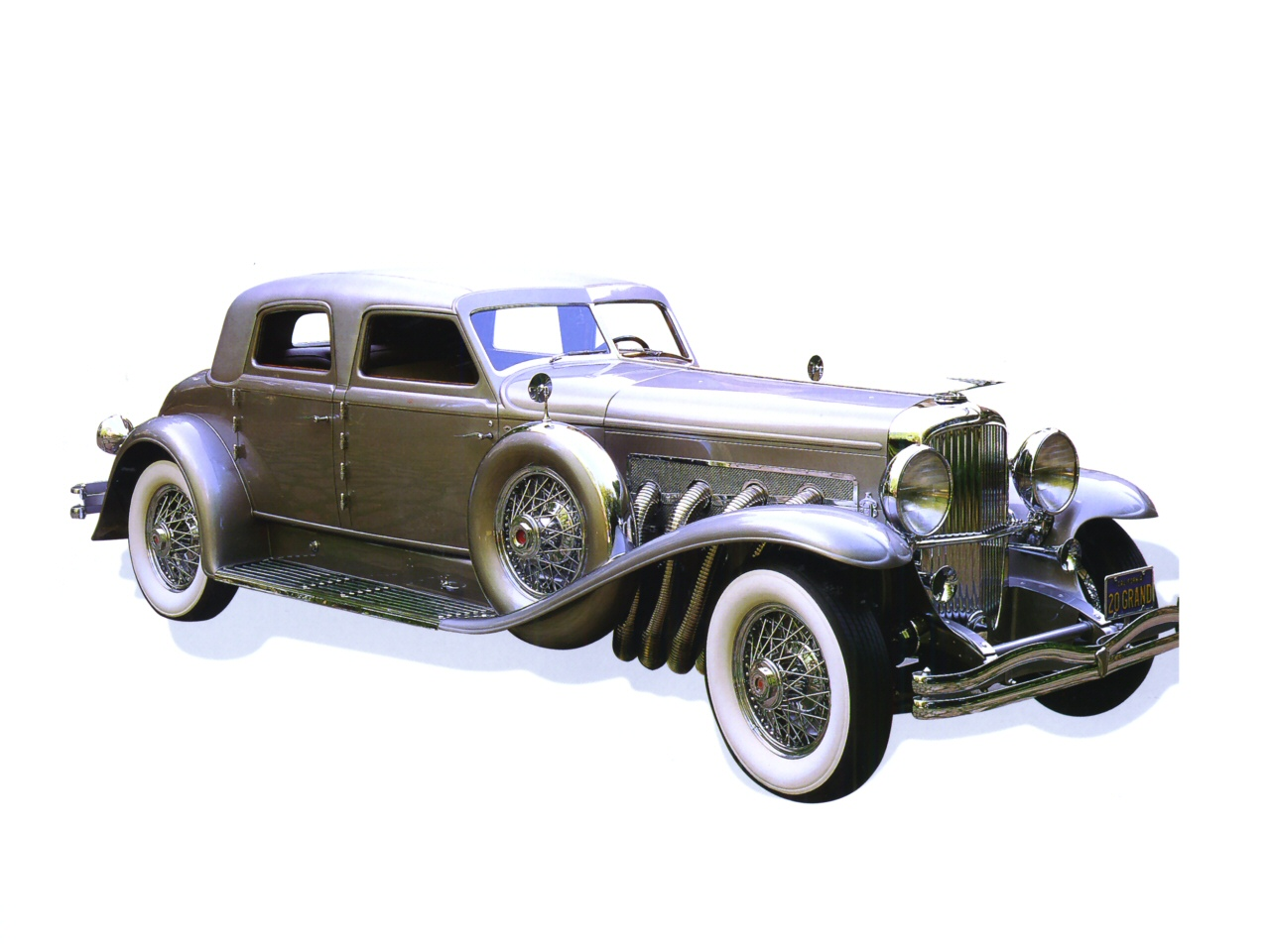 1933 Duesenberg Model SJ Arlington Torpedo Sedan Twenty Grand Silver Fvr