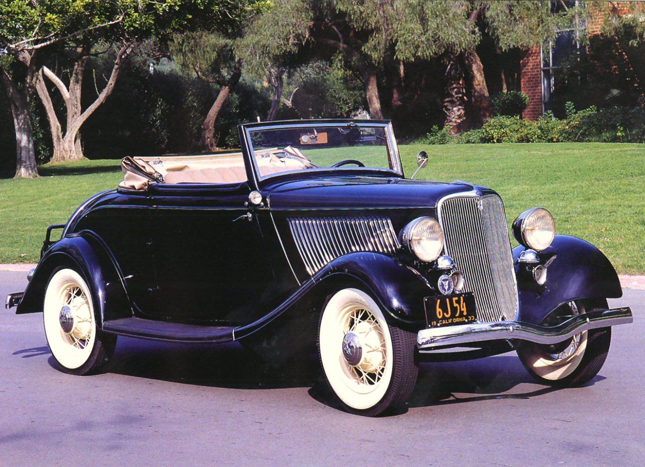 1933 Ford Cabriolet Black Fvr