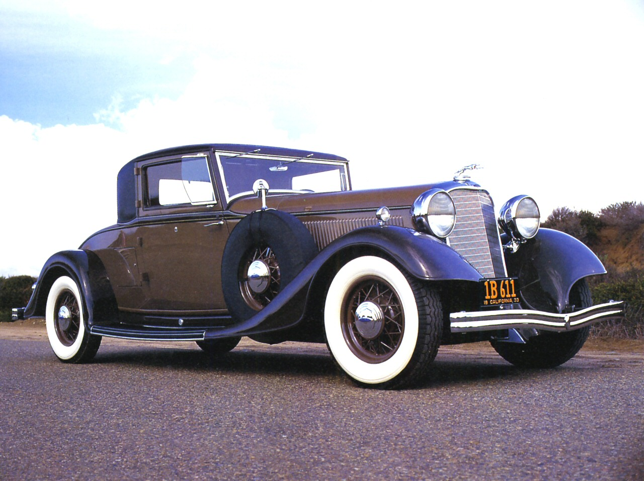 1933 Lincoln KB V 12 3 Window Coupe Brown Fvr