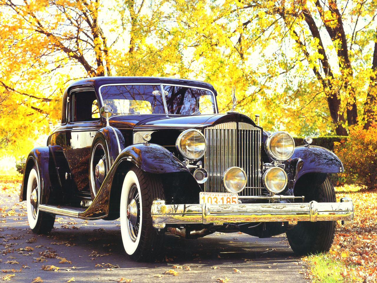 1933 Packard Twelve 1006 Deitrich V Windshield Sport Coupe Black Fvr