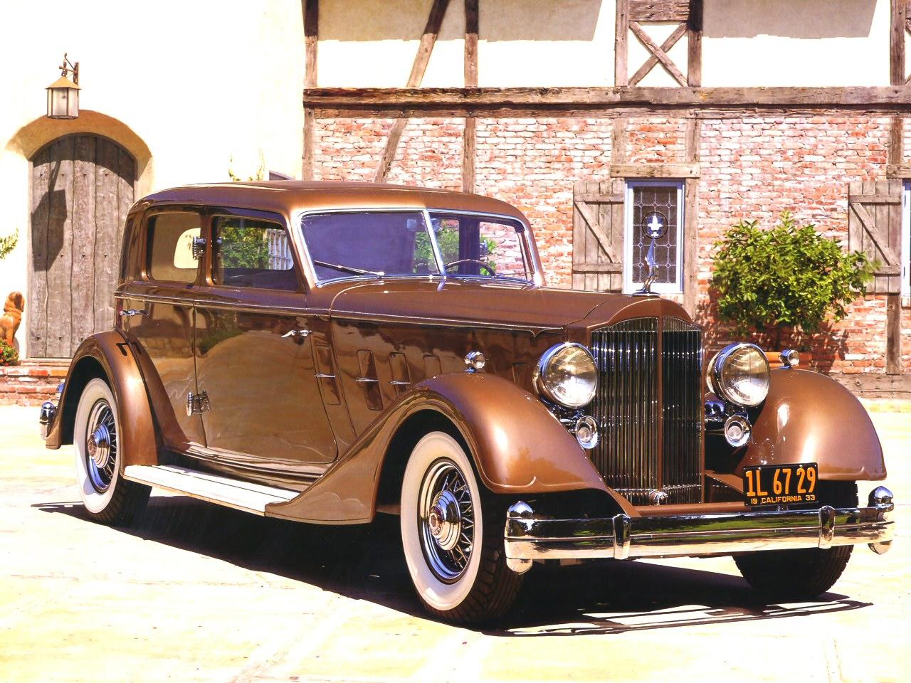 1933 Packard Twelve 3182 Deitrich V Windshield Special Sport Sedan Car Of The Dome Bronze Fvr