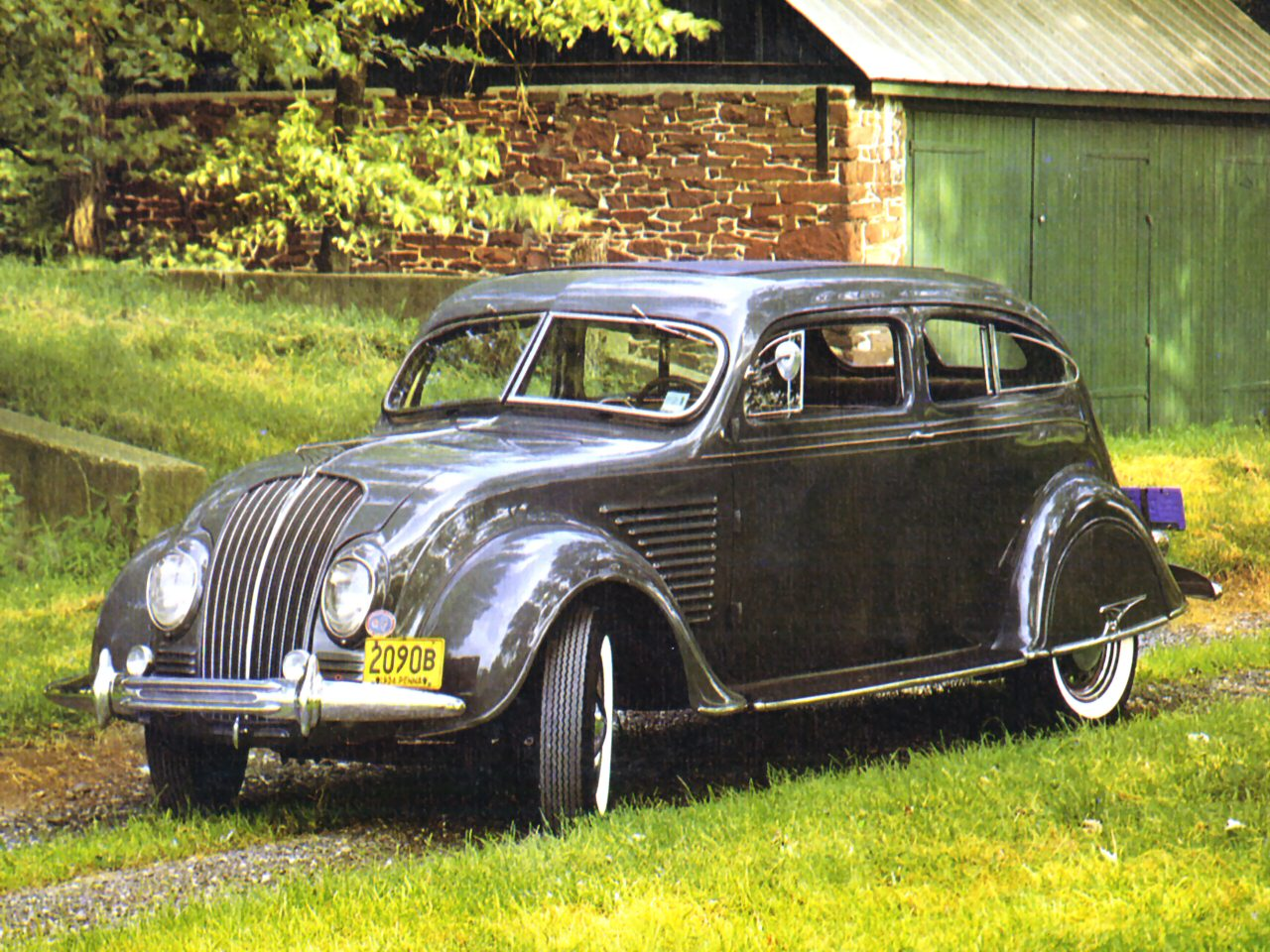 1934 DeSoto AirFlow 2 Door Sedan Grey Fvl