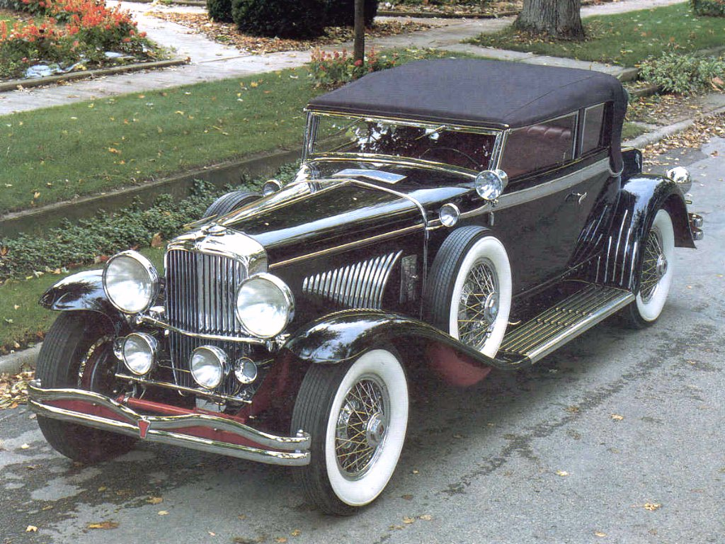 1934 Duesenberg J Victoria Convertible Coupe Black Fvl