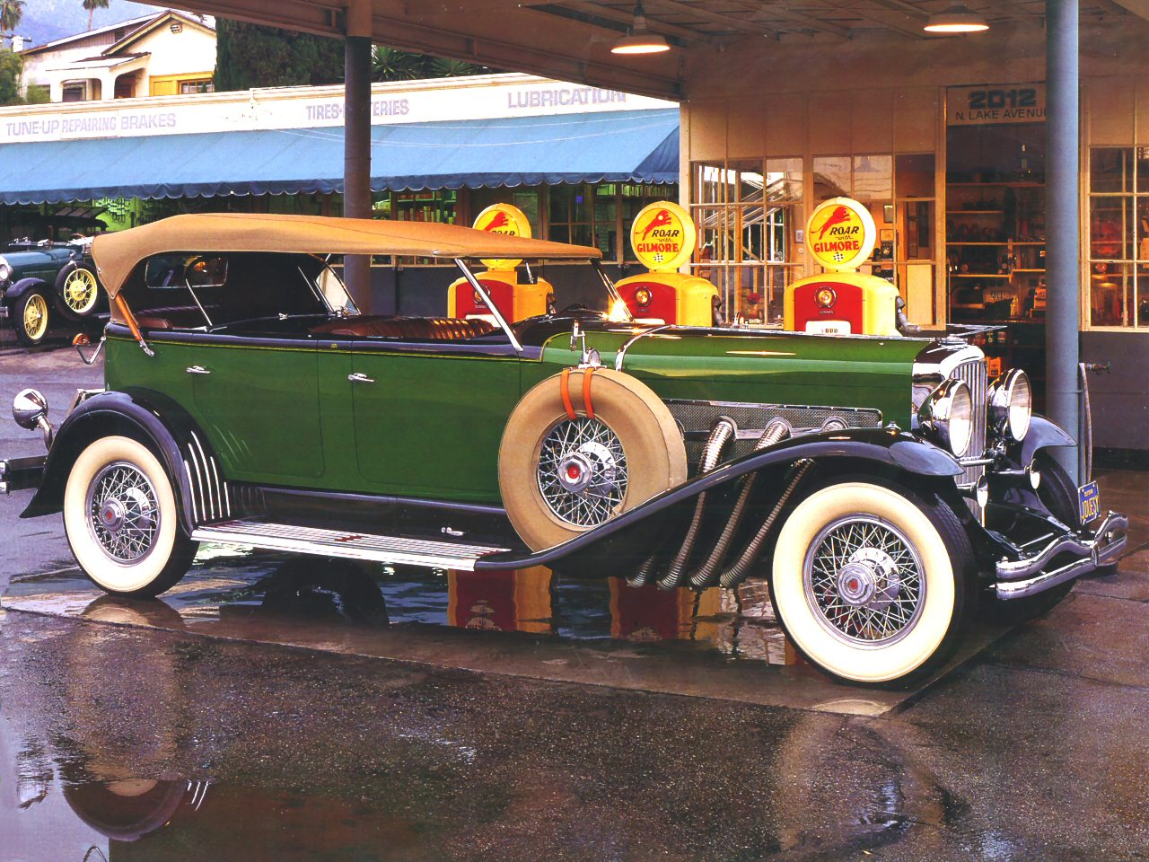 1934 Duesenberg Model J Murphy Dual Cowl Phaeton Green Black Fsvr