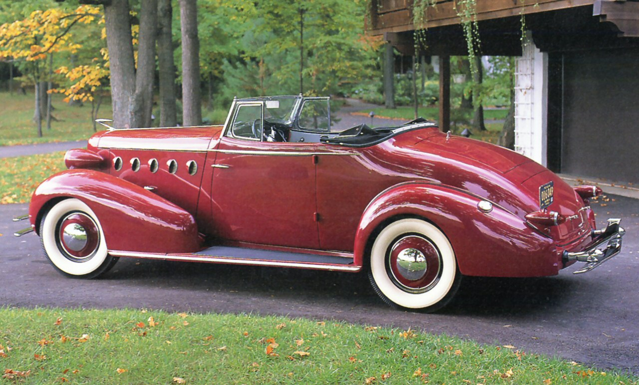 1934 Lasalle Convertible Coupe Red Rr Sv Cars Wallpaper