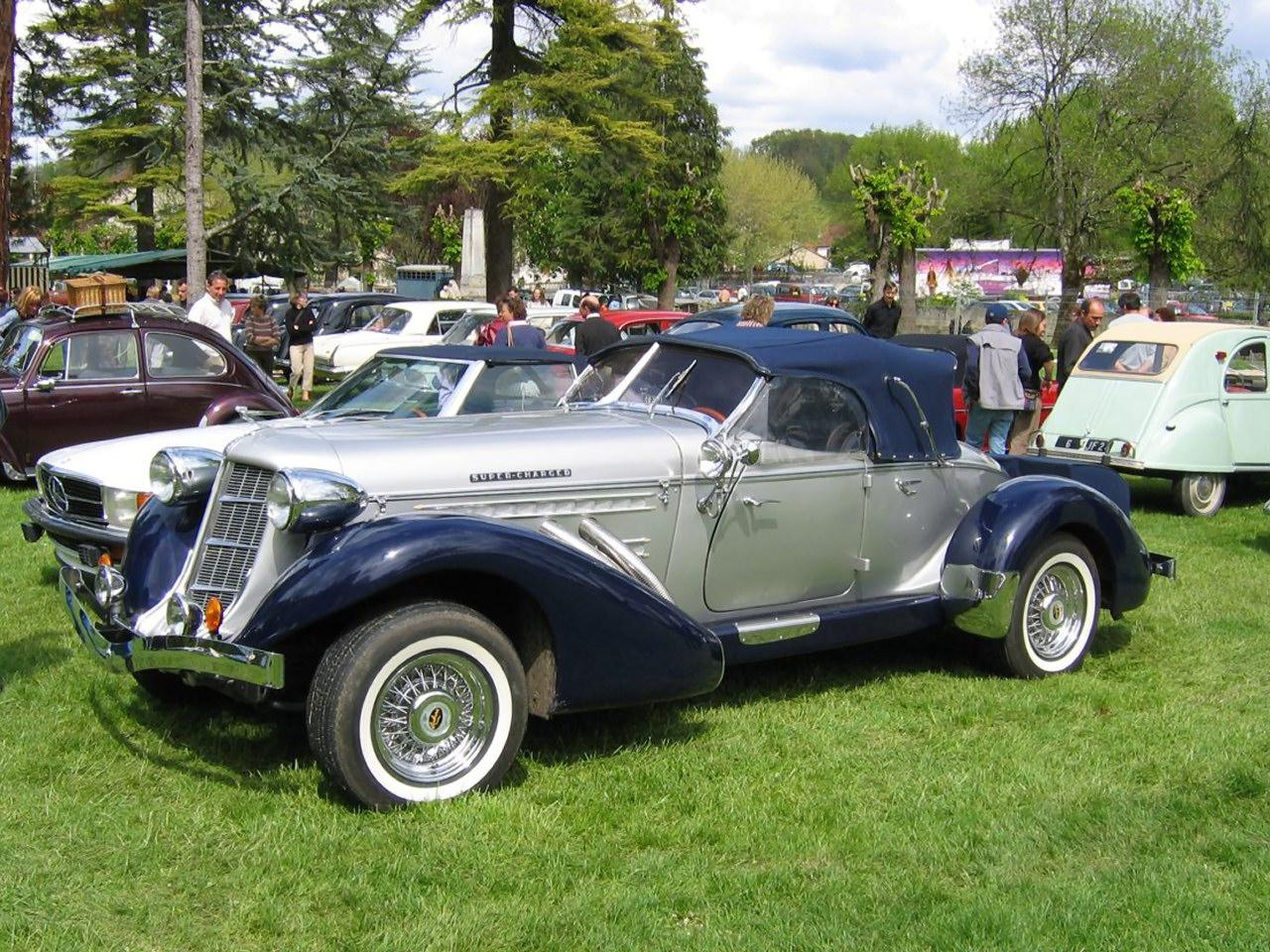 1936 Auburn 8 852 Supercharged Speedster Kit Car Silver Midnight Blue Fvl