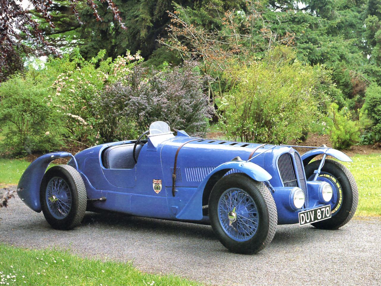1936 Delahaye Type 135 Race Car Blue Fvr