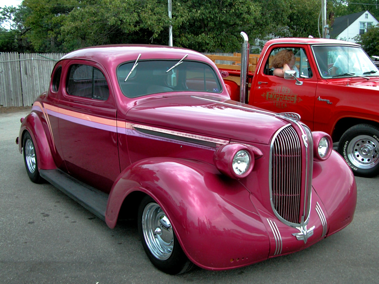 1938 Plymouth Chopped 5 Window Coupe Rose Metallic Fvr 2005 Dream Cruise N