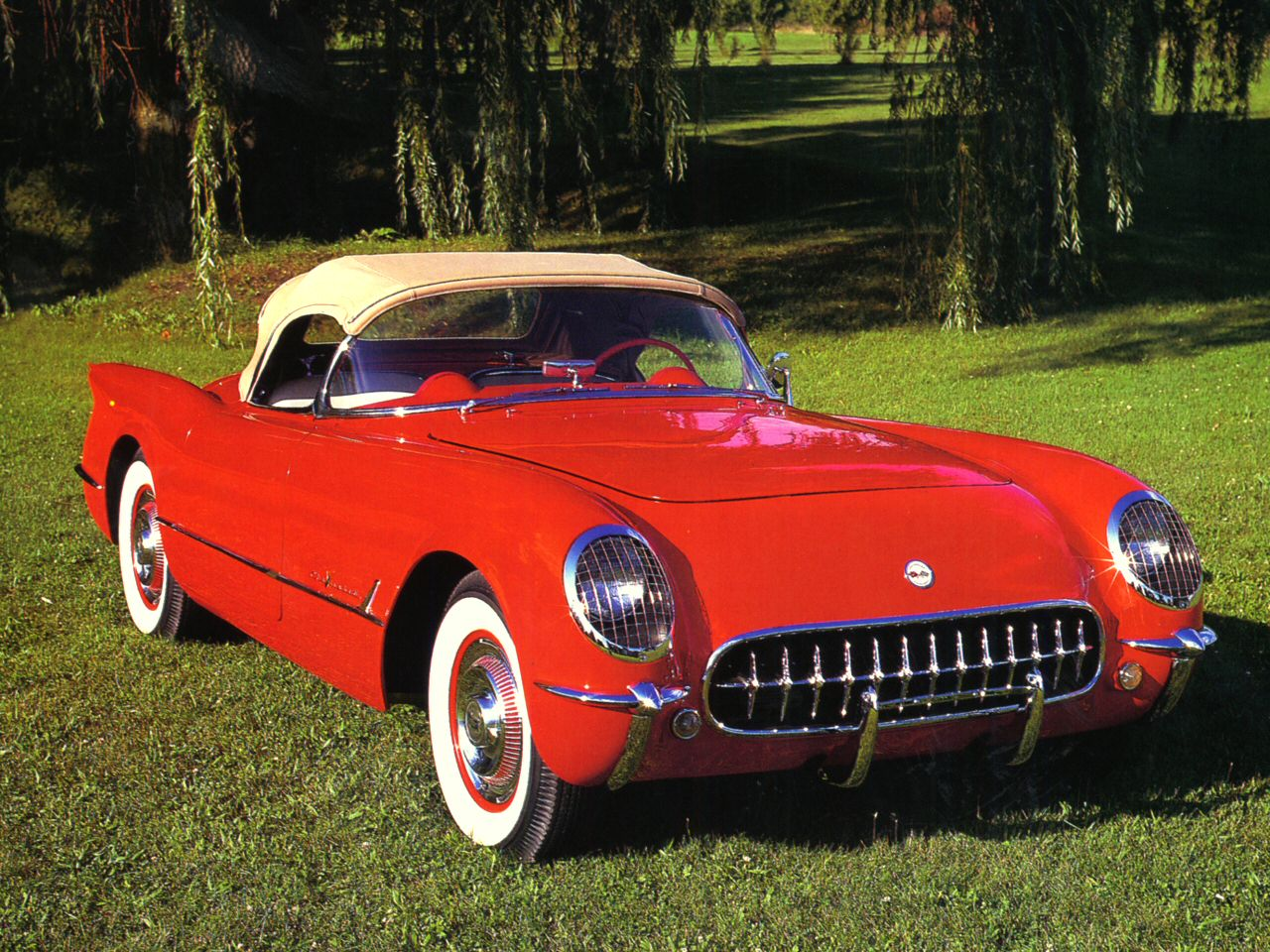 1955 Chevrolet Corvette 265 V 8 Roadster Red Fvr