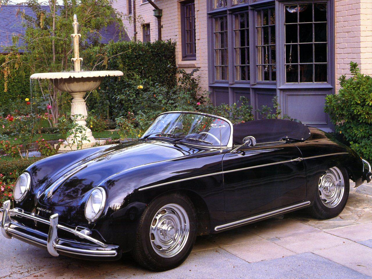 1955 Porsche 356A Speedster Black Fvl