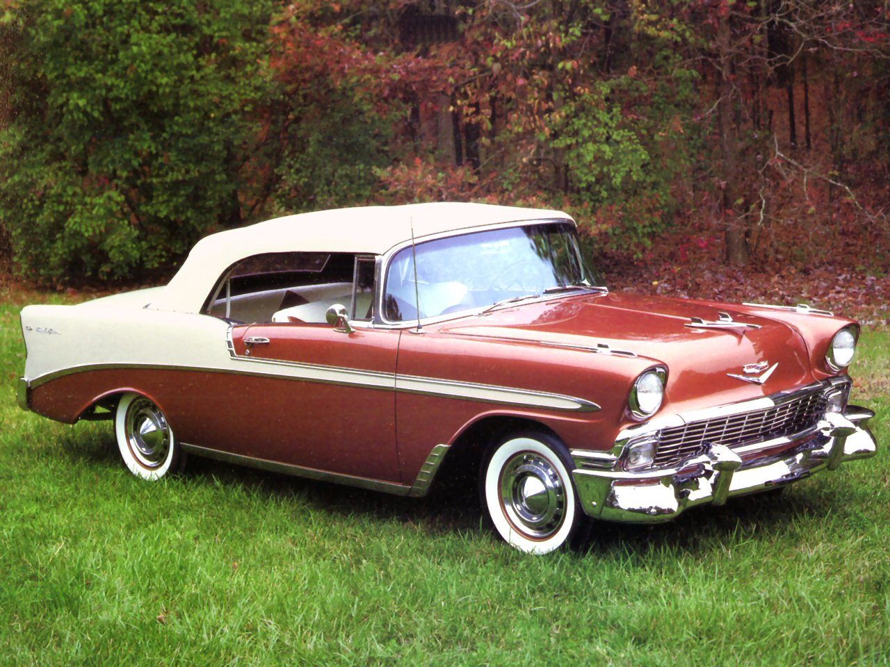 1956 Chevrolet Bel Air Convertible Brown Fvr