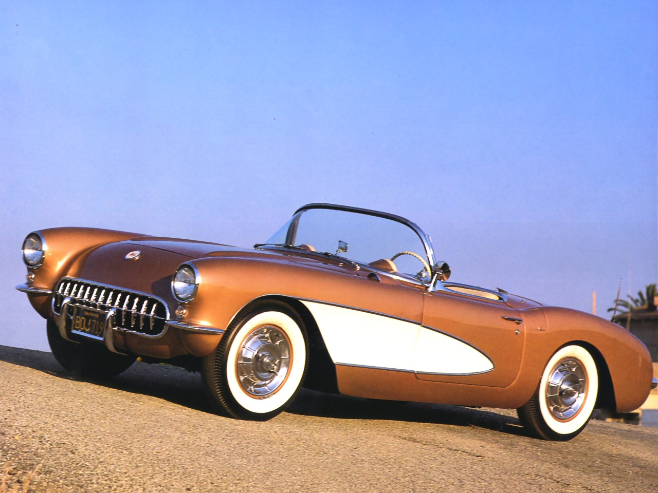 1956 Chevrolet Corvette Convertible Bronze White Lfvl