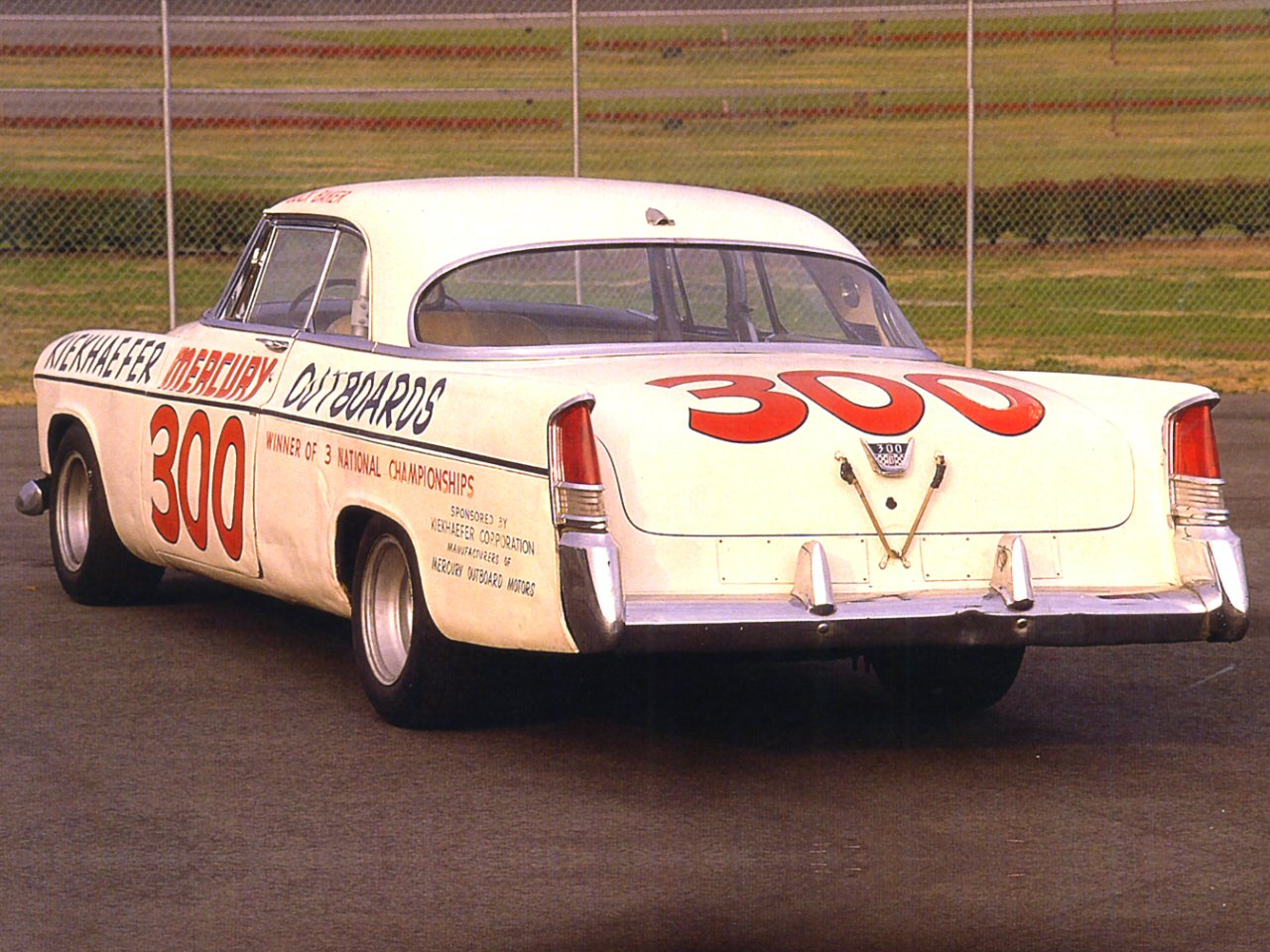 1956 Chrysler 300B NASCAR Race Car Cream Rvl