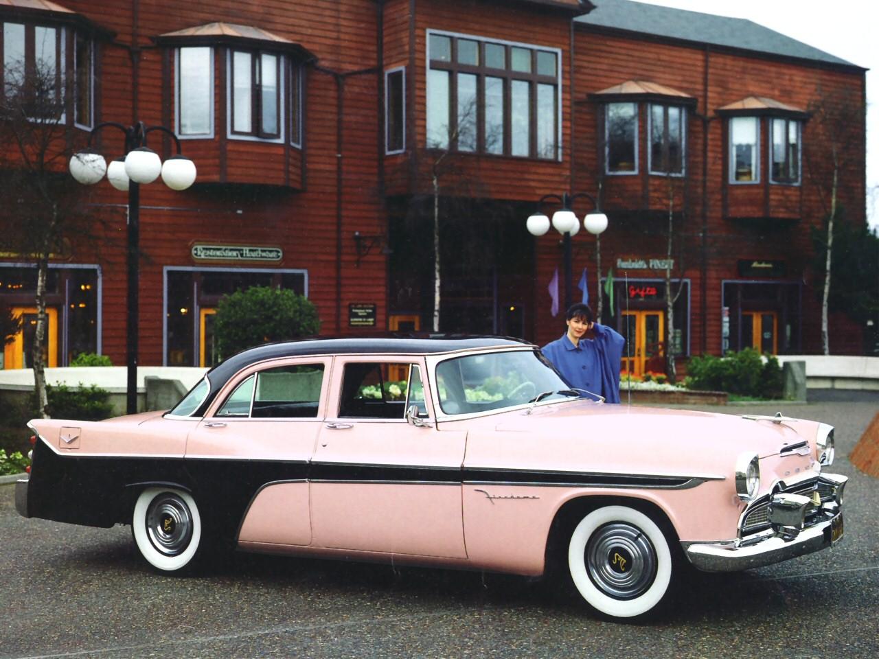 1956 DeSoto Firedome 4 Door Sedan Pink Black Fsvr