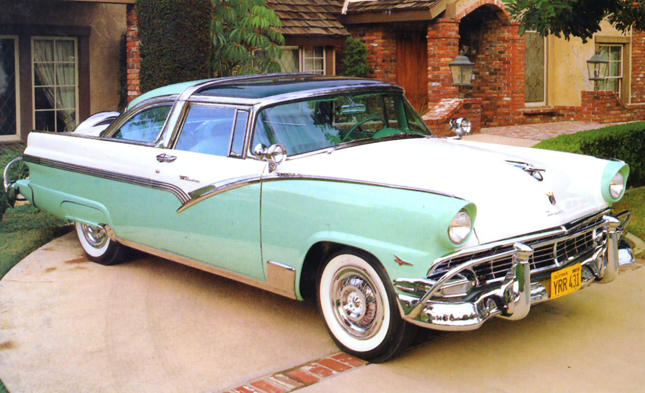 1956 Ford Crown Victoria With Transparent Roof Green White Fvl