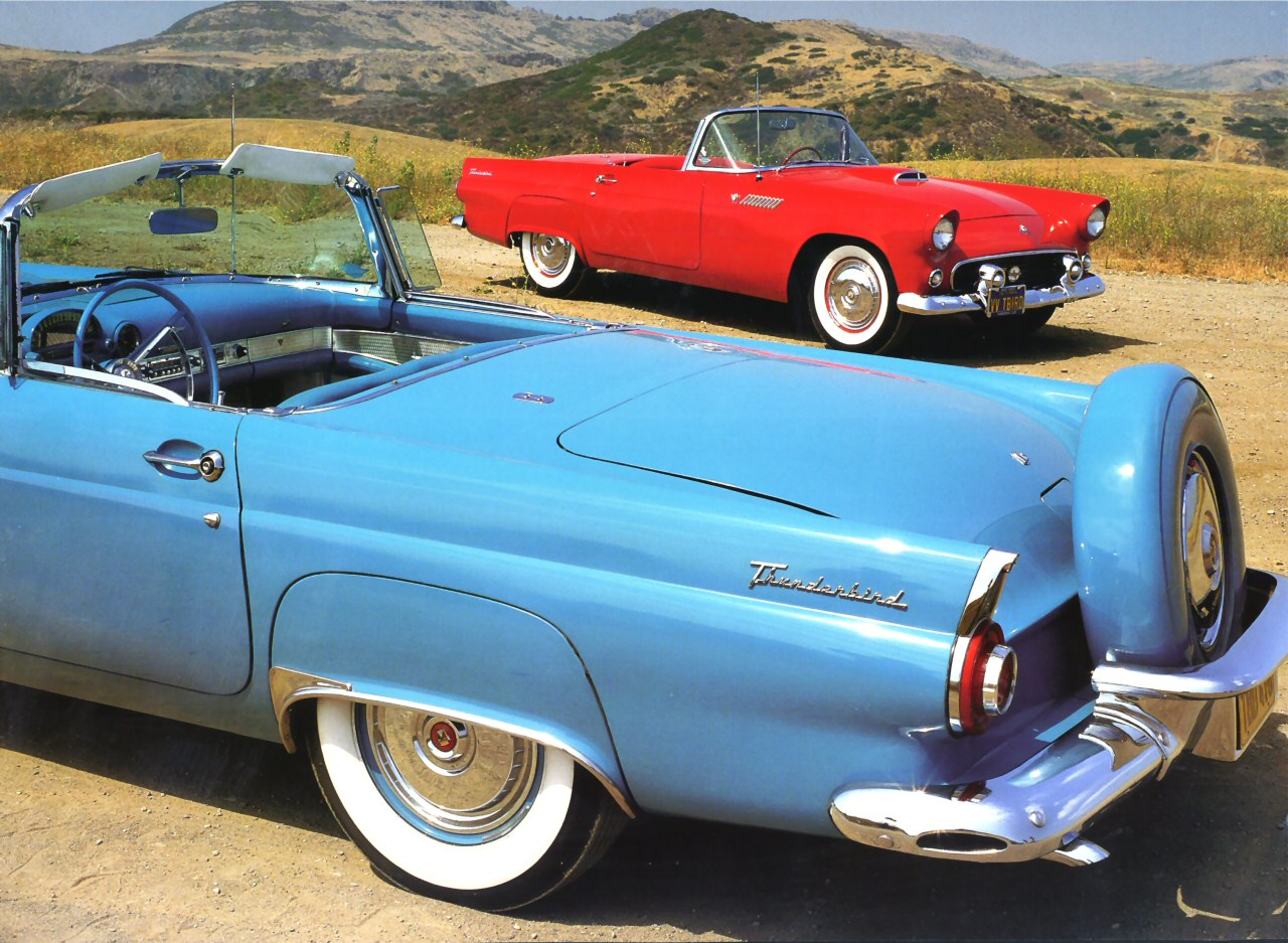 1956 Ford Thunderbird Turquoise Rvl Clip 1955 Red Fvr Next Cars Wallpaper
