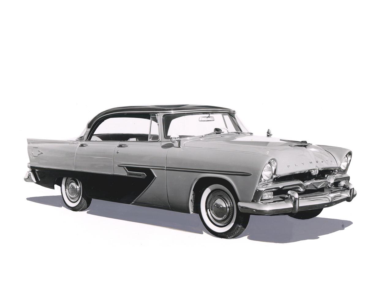 1956 Plymouth Bevedere 4 Door Hardtop Fvr BW