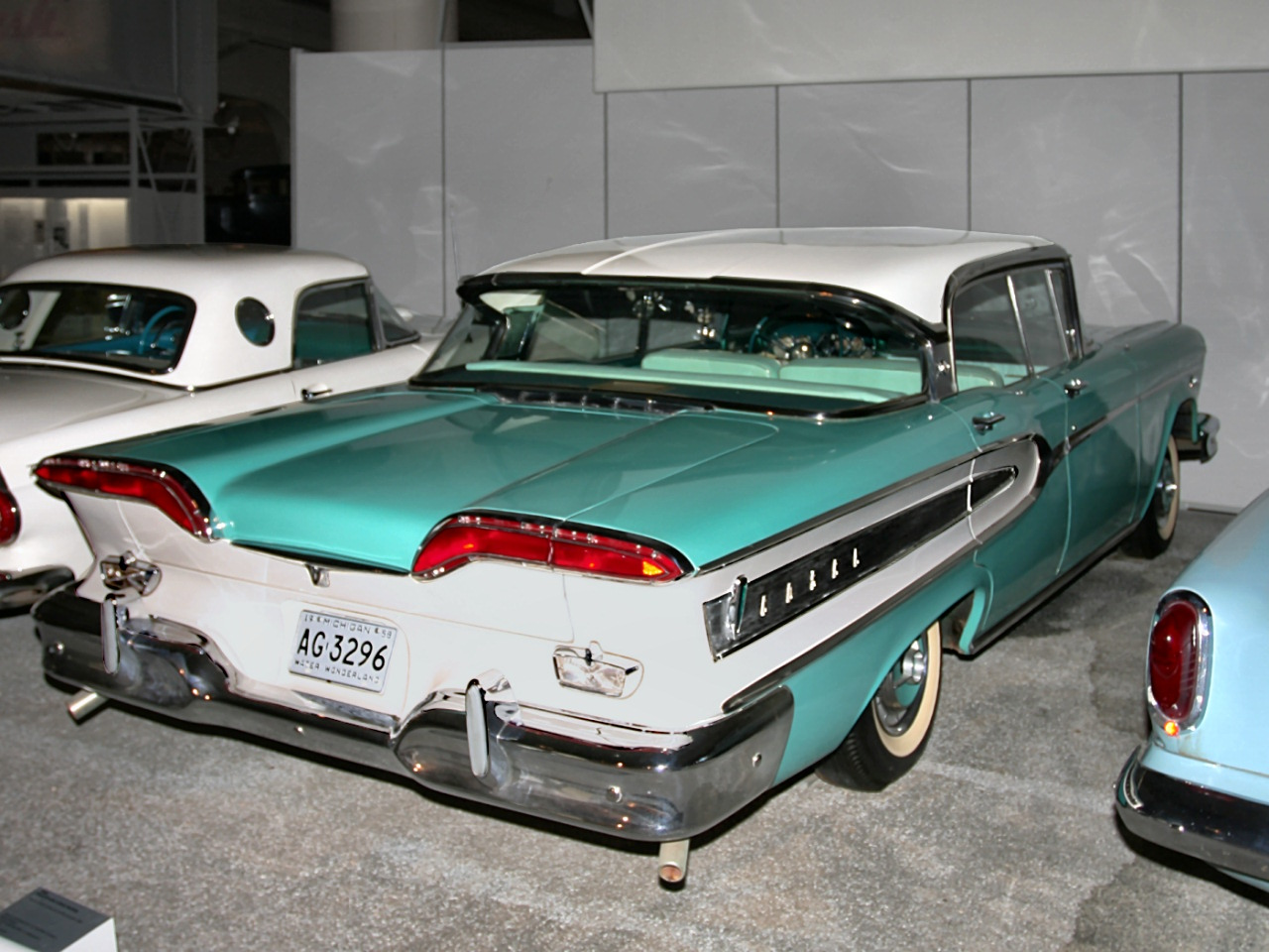Cars 1958 Edsel Citation 4 Door Hardtop Serial Number One 410CID 345HP Turquoise White Rvr H Ford Museum CL 1