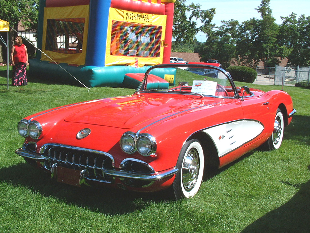 1959 Chevrolet Corvette Convertible Red Fvl Canterbury Village Car Show F