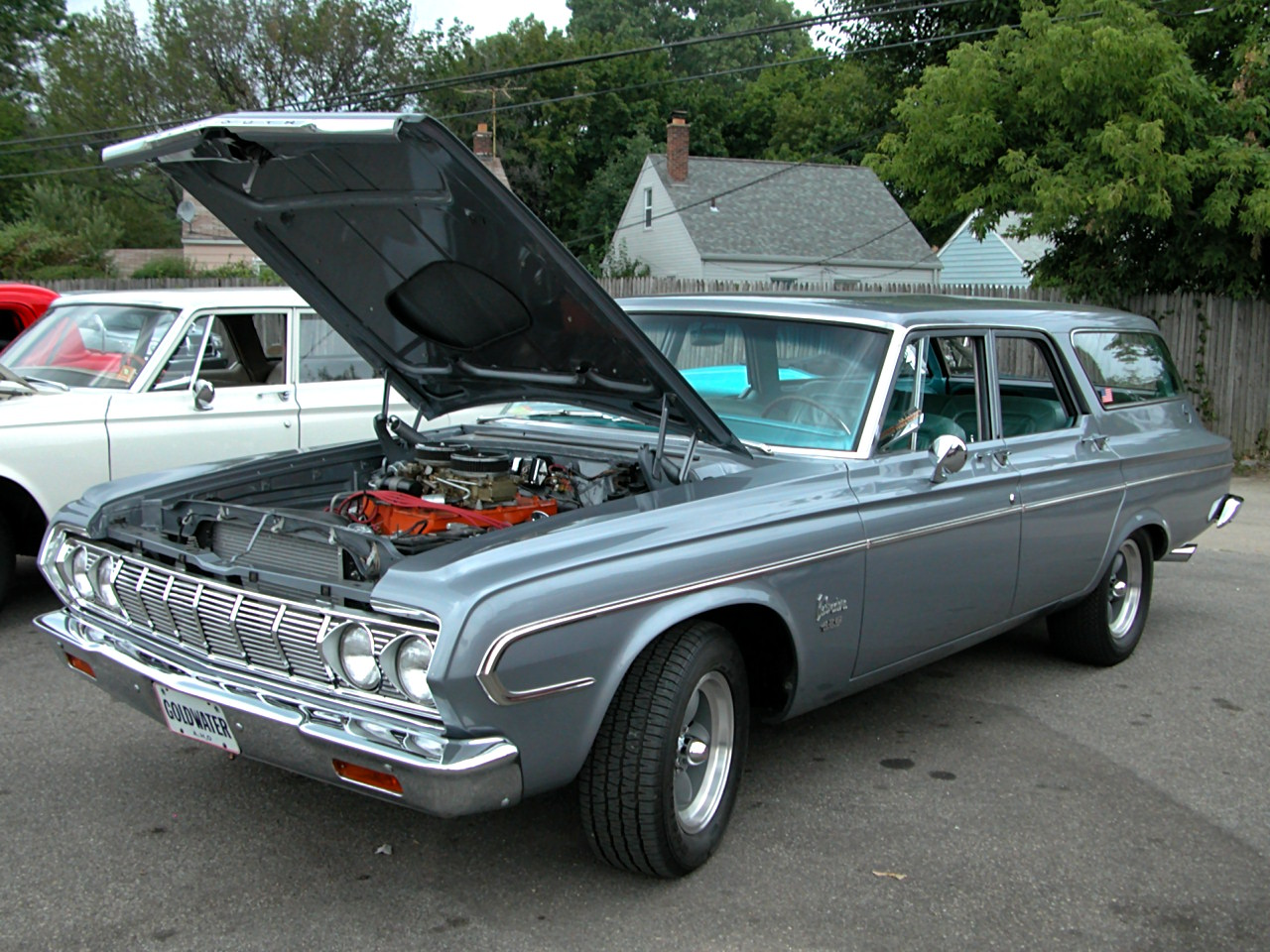 1964 Plymouth Belvedere Station Wagon W Modified 426 Short Ram Hemi Silver Gray Poly Fvl 2005 Dream Cruise N