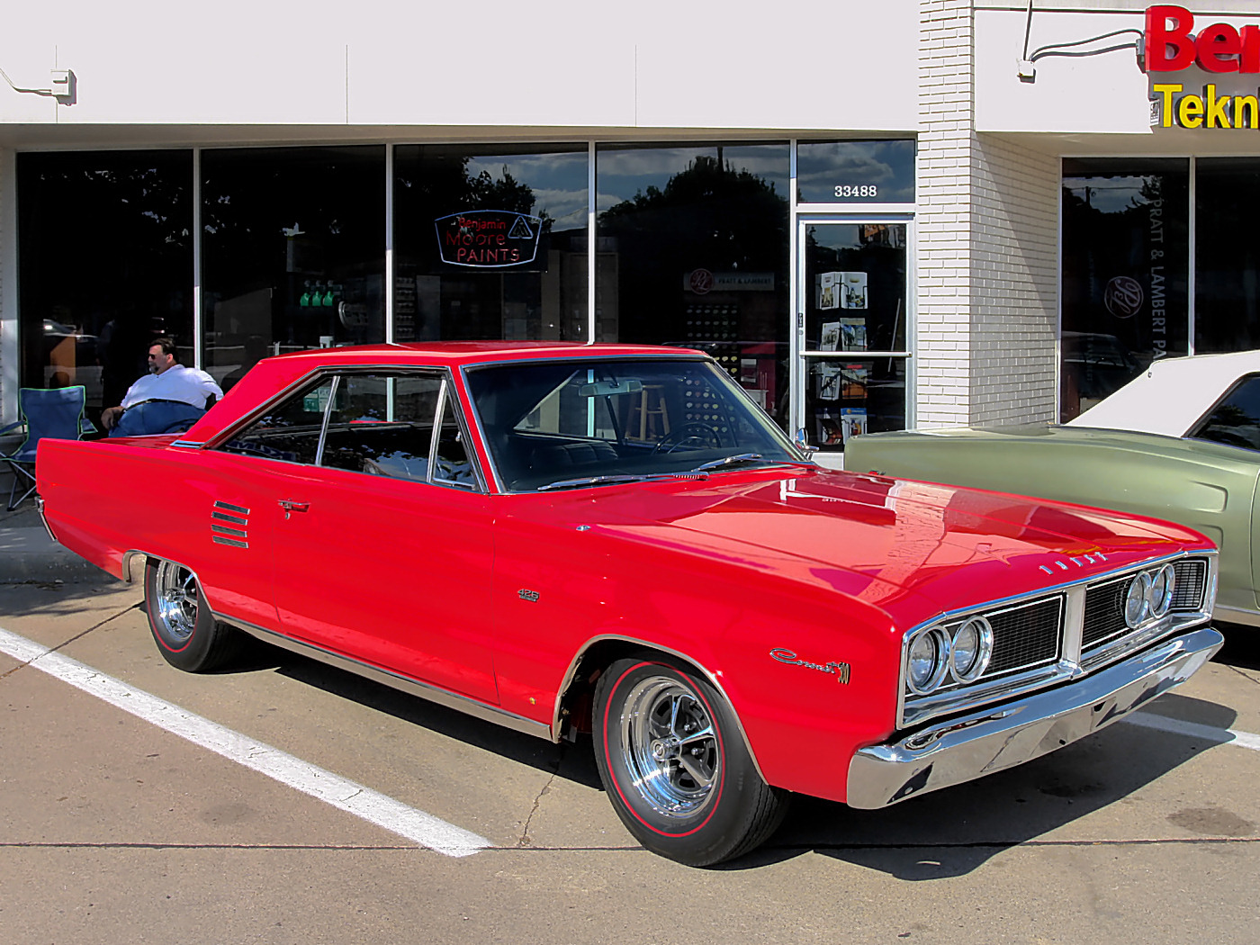 1966 Dodge Coronet 500 Hardtop 426 Street Hemi 4 Speed Bright Red Fvr 2007 Dream Cruise CL