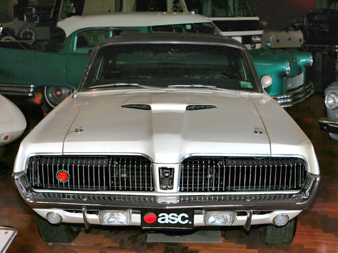 1968 Mercury Cougar 390 With Power Sunroof From ASC American Sunroof Company White Fv H Ford Museum CL