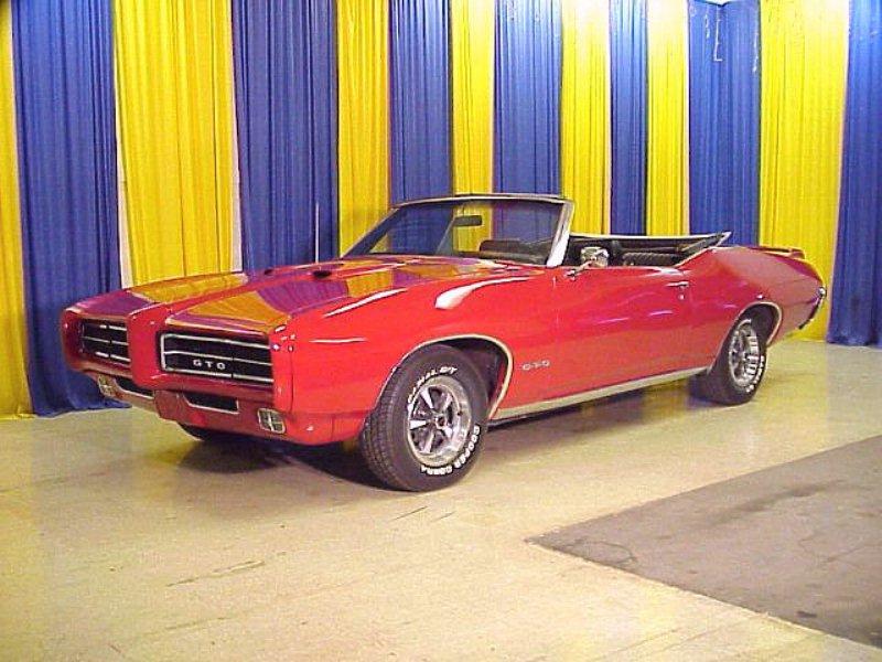 1969 Pontiac GTO Convertible Red Fvl