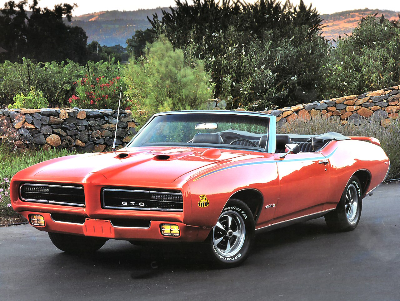 1969 Pontiac GTO The Judge Convertible Orange Fvl