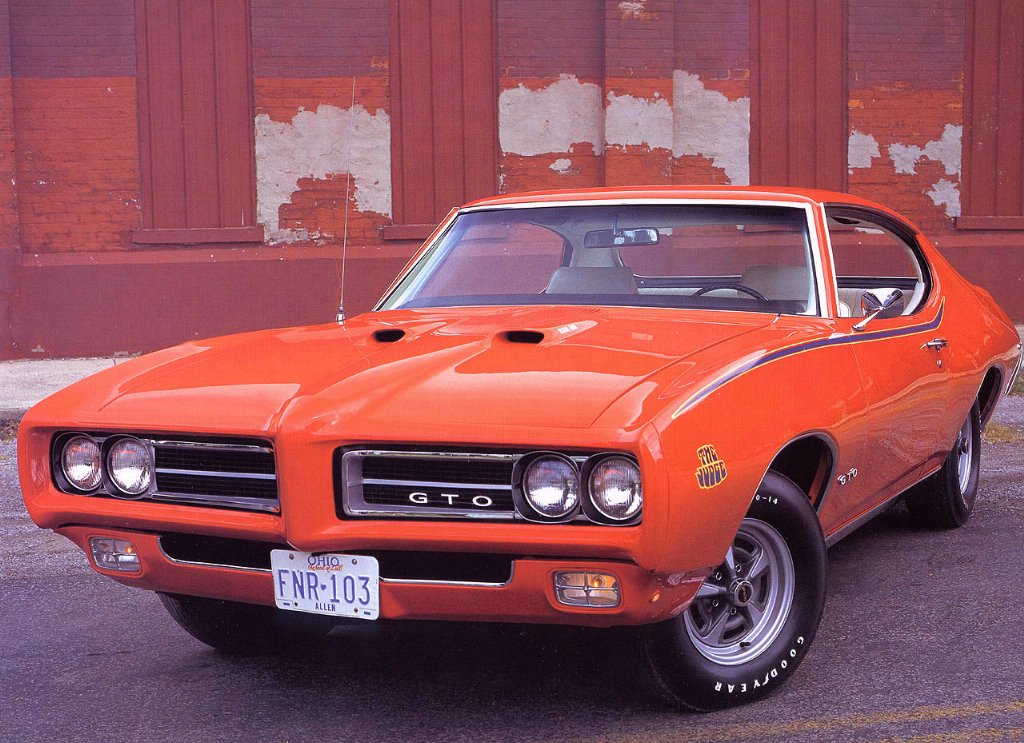 1969 Pontiac GTO The Judge Coupe Orange Fvl